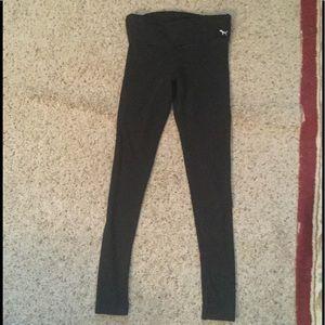 PINK VICTORIA'S SECRET YOGA GYM FOLDOVER PANTS, XS